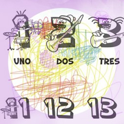 Spanish song for kids teaching them the Spanish words for basic numbers.