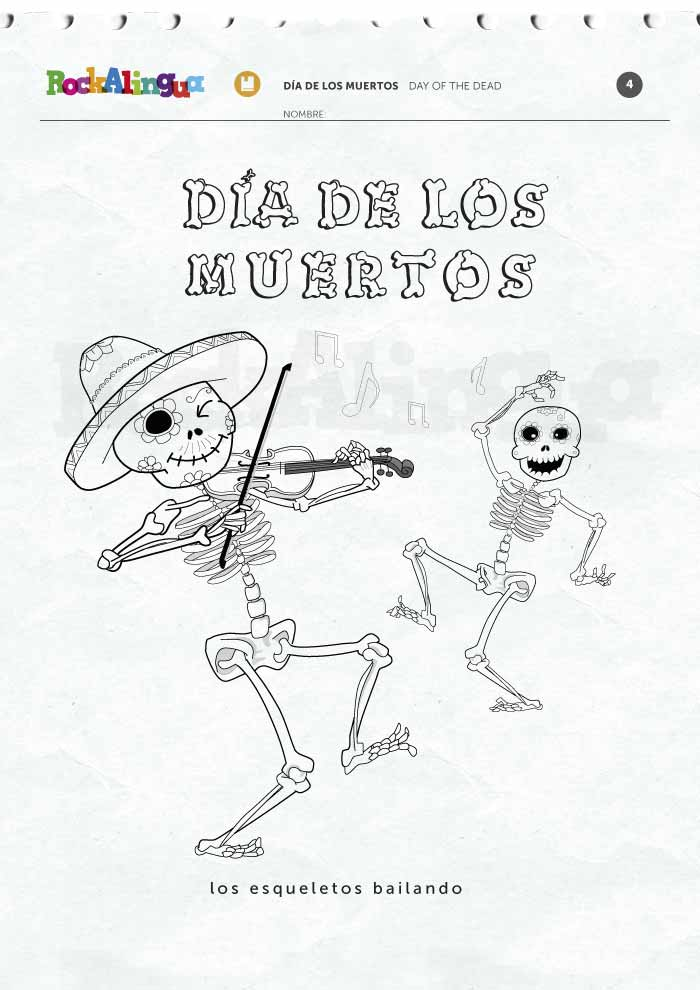 Day of the Dead Picture dictionary – Dia De Los Muertos Worksheets