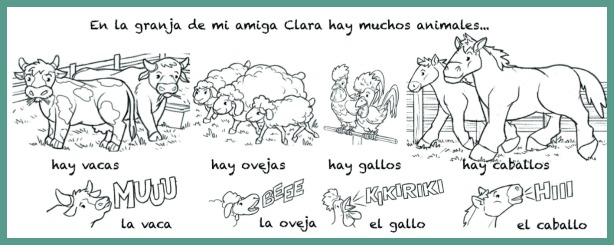 Farm Animal Activities in Spanish | Rockalingua