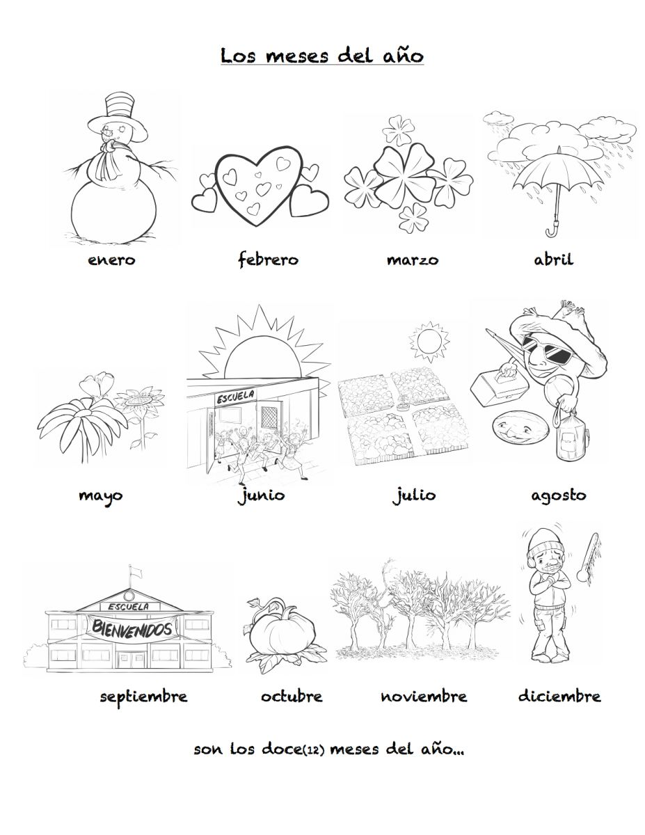 Worksheets Spanish Worksheets For Elementary Students months of the year in spanish rockalingua