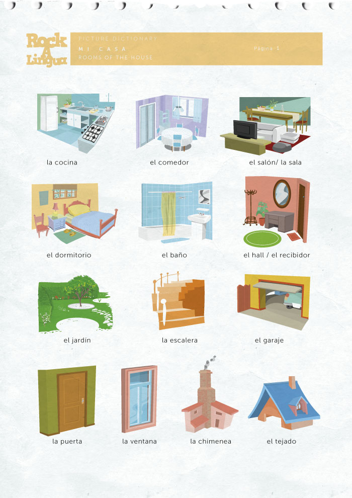 Rooms Of The House Picture Dictionary Rockalingua