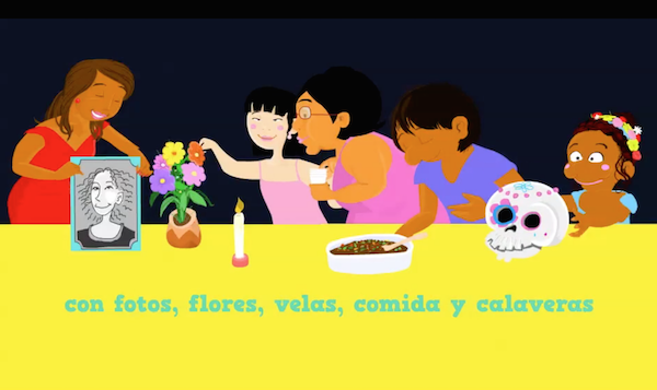Day of the Dead activities like this video introduce students to language and culture related to the tradition.