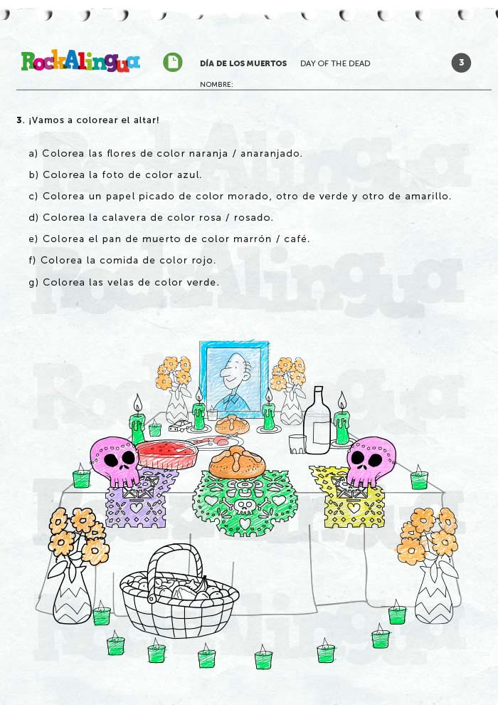 Day of the Dead | Worksheet | Rockalingua