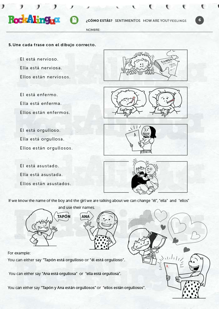 How are you? Feelings | Worksheet | Rockalingua