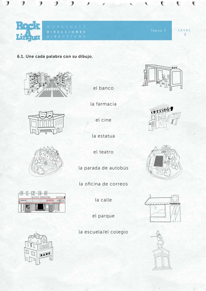 Directions And City Places Worksheet Rockalingua