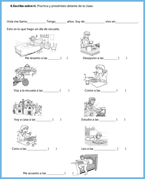 spanish worksheets for interactive learning rockalingua. Black Bedroom Furniture Sets. Home Design Ideas