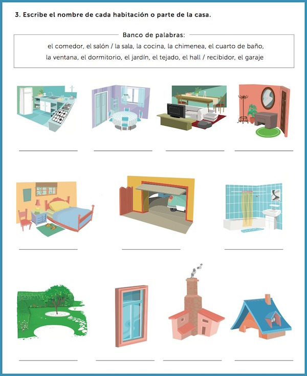 Spanish Worksheets For Interactive Learning Rockalingua