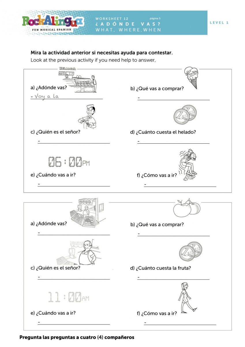 Worksheet Wh Questions In Spanish Rockalingua