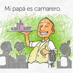 Spanish family members worksheet for kids and children