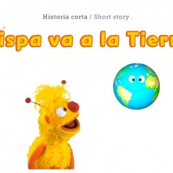 Spanish story for kids about an alien that comes to Earth