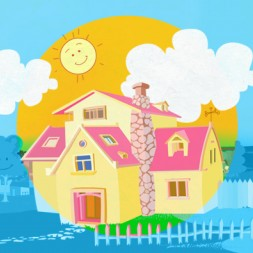 Rooms of the house in Spanish  song for kids