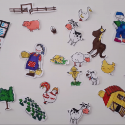 Spanish farm animals craft for kids and children