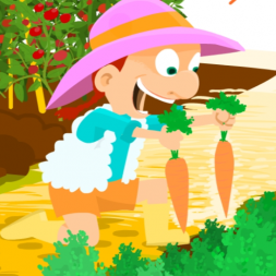 Short Spanish story for kids about the farm