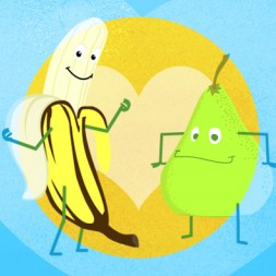 fruits in Spanish, video and song for kids, las frutas en español