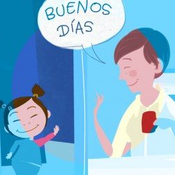 Greetings and daily routines in Spanish song and video for kids