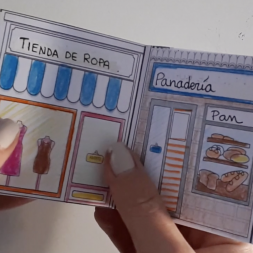 "Craft for kids to review Spanish vocabulary related to the city ""la ciudad"""