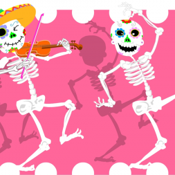 Short story Día de los Muertos in Spanish for kids