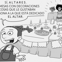 Day of the dead video comic for kids.