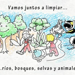 Spanish song about wild animals and places for kids and toddlers