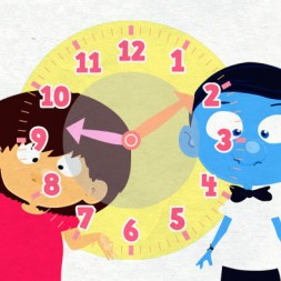 video to teach time in Spanish to kids and children