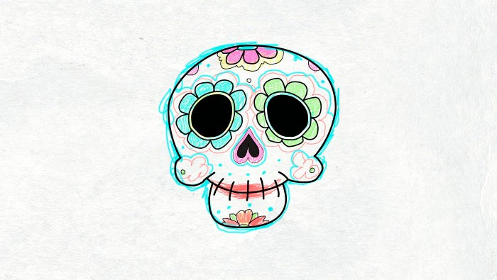 Dia de los muertos worksheet for kids and children Day of the dead in Spanish